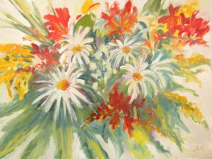 Fresh as a Daisy - Oil painting by Sarah de Mattos