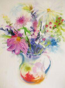 Floribunda Oil Painting by Sarah de Mattos