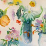 Fresh as a Daisy - Contemporary Oil Painting available to buy for your home from Sarah de Mattos