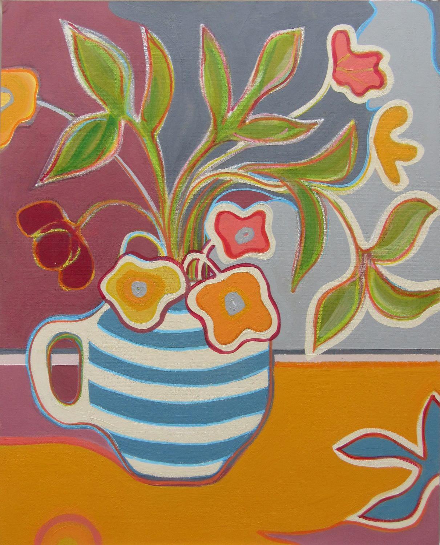 Contemporary Floral Still Life by Sarah de Mattos